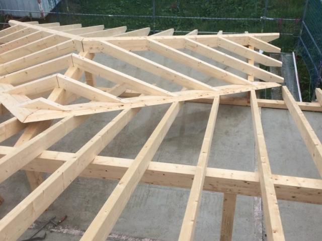 Montage Dachstuhl 1
