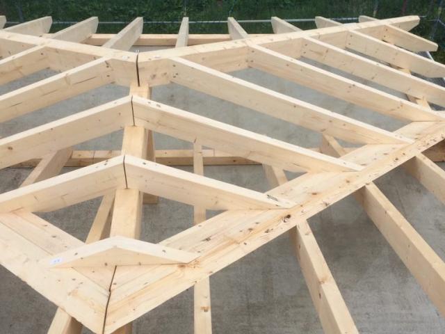 Montage Dachstuhl 2