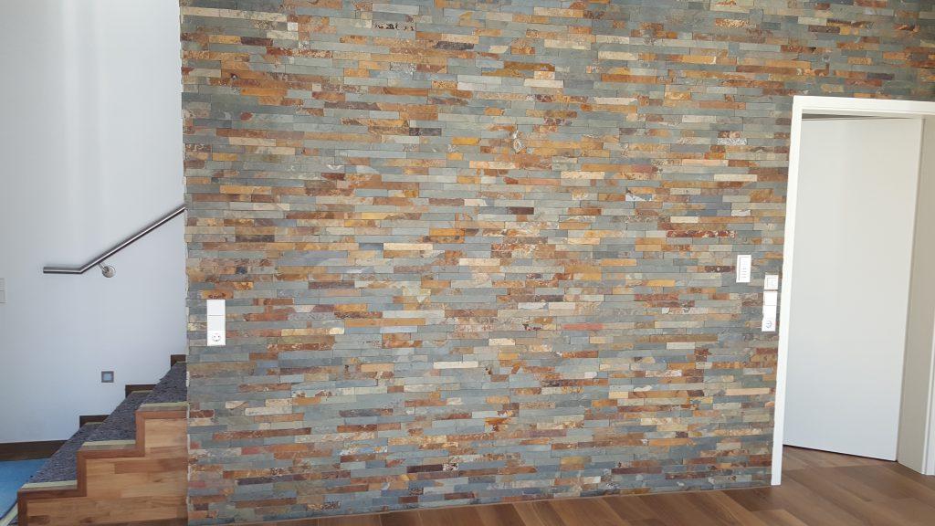 www.deringbau.de - Dekorative Steinwand im Wohnbereich